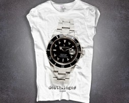 Submariner t-shirt donna con stampa rolex submariner rivisitato