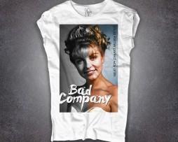 Laura Palmer T-shirt donna bianca bad company twin peacks