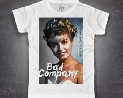 Laura Palmer T-shirt uomo bianca bad company twin peacks