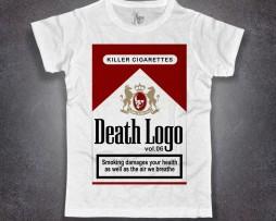 sigarette t-shirt uomo Marlboro rosse death logo