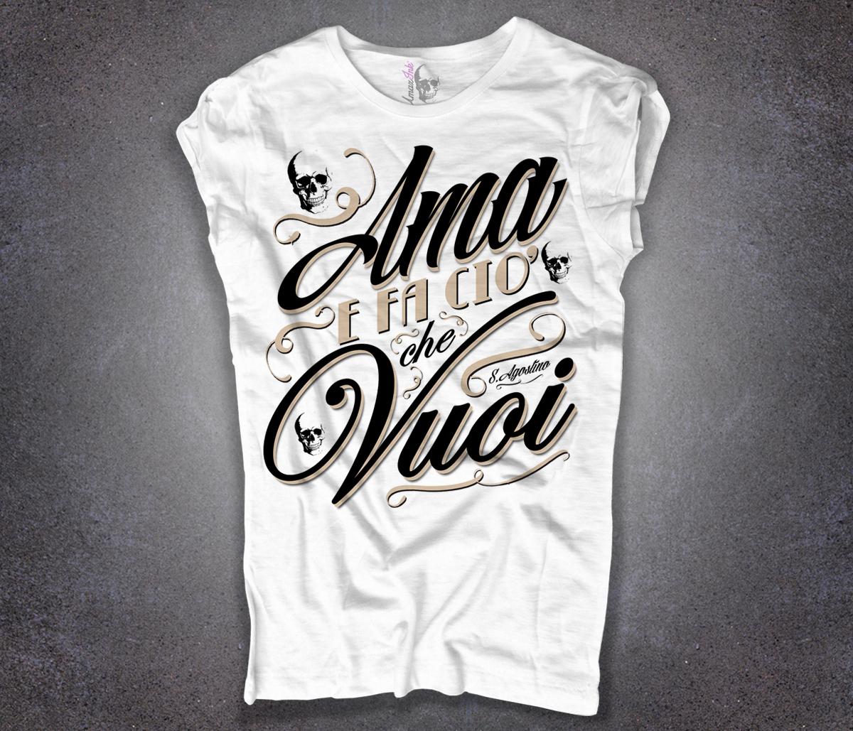 sant' Agostino t-shirt bianca donna Ama e fa ciò che vuoi