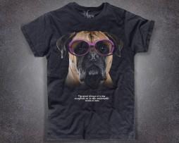 Boxer T-shirt nera uomo