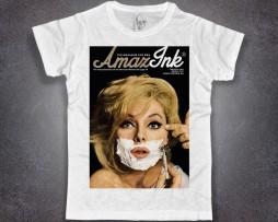 Esquire T-shirt bianca uomo raffigurante copertina esquire amazink