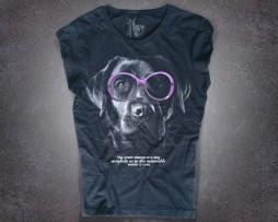 Labrador T-shirt donna nera