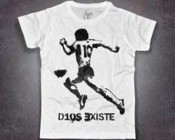 Maradona T-shirt uomo scritta d10s esiste