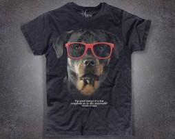 rottweiler t-shirt nera uomo