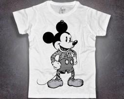 topolino tatuato T-shirt bianca uomo mickey mouse tattoooed disney