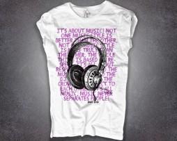 Carl Cox t-shirt donna frase del dj e cuffie