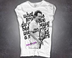 McEnroe t-shirt donna bianca con scritta fucking umpire