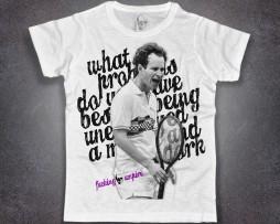 McEnroe t-shirt uomo bianca con scritta fucking umpire