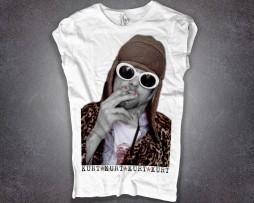 Kurt Cobain T-shirt donna bianca