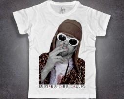 Kurt Cobain T-shirt uomo bianca