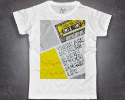 cassetta t-shirt uomo bianca tape