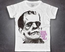 frankenstein t-shirt uomo bianca con scritta we can do it
