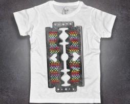 lametta t-shirt uomo colorata e con cuoricini