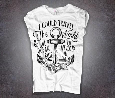 ancora tattoo t-shirt donna bianca e scritta