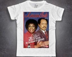 Jefferson t-shirt uomo bianca raffigurante George e Whizzy