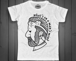 freud t-shirt uomo raffigurante il viso stilizzato dello psicanalista e una donna nuda