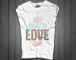fuck love t-shirt donna con scritta