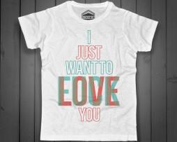 fuck love t-shirt uomo con scritta