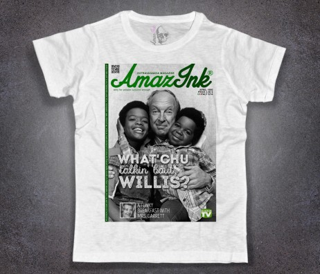 Arnold t-shirt uomo bianca raffigurante Arnold, Willis e il signor Philip Drummond