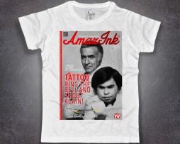 Fantasilandia t-shirt uomo bianca raffigurante Roake e Tatoo