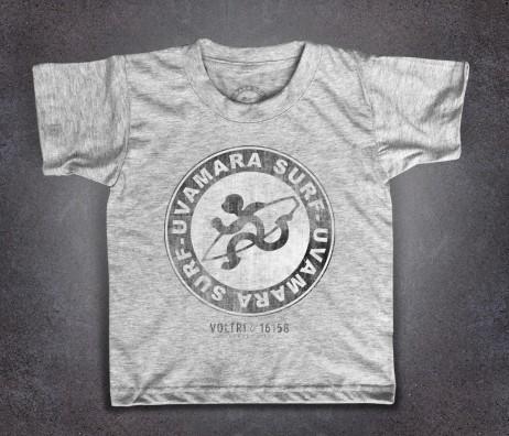 Uvamara surf t-shirt bambino raffigurante la versione antichizzata del logo classico