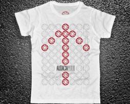 Audacia Motori t-shirt uomo raffigurante il logo ripetuto a formare il disegno di una freccia