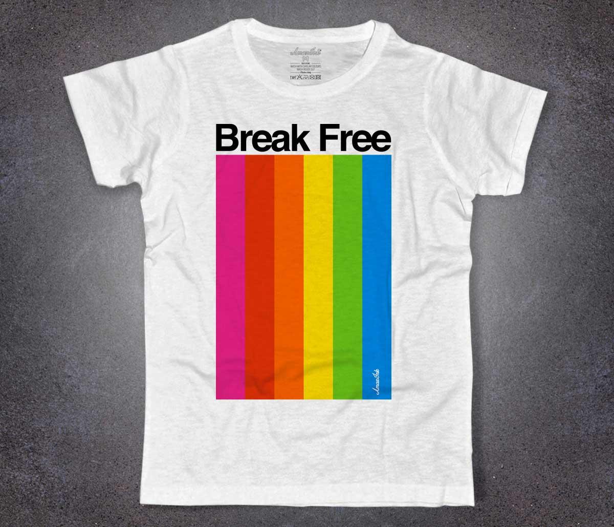 Shirt Spectrum Amazink Break T Free Color Uomo 1JcTFlK