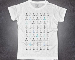 Ancore t-shirt uomo bianca con scritta I refuse to sink