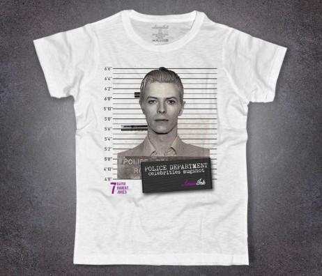 david bowie t-shirt uomo bianca con stampa foto segnaletica mugshot david_bowie