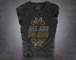 Bike T-shirt da donna con scritta all ass no gas