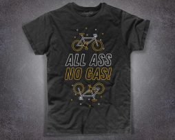 Bike T-shirt da uomo con scritta all ass no gas
