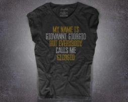 Daft Punk t-shirt nera donna ispirata alla canzone Giorgio by Moroder