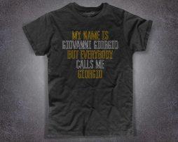 Daft Punk t-shirt nera uomo ispirata alla canzone Giorgio by Moroder